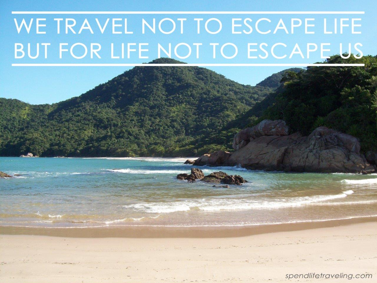 We travel not to escape life but for life not to escape us - Spend Life Traveling by Sanne Wesselman