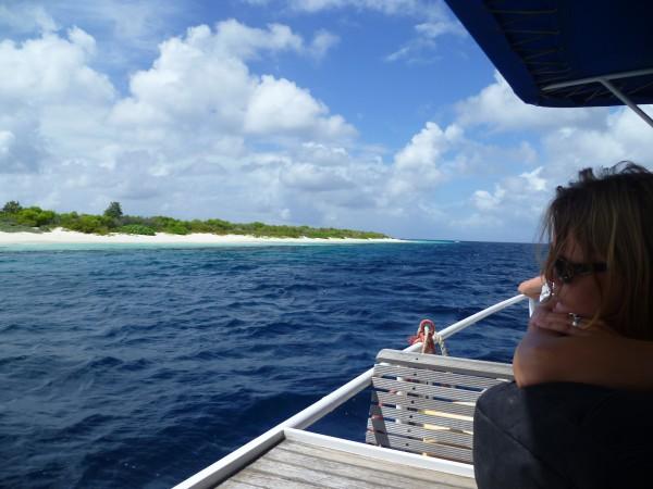 ferry to Klein Bonaire, Caribbean