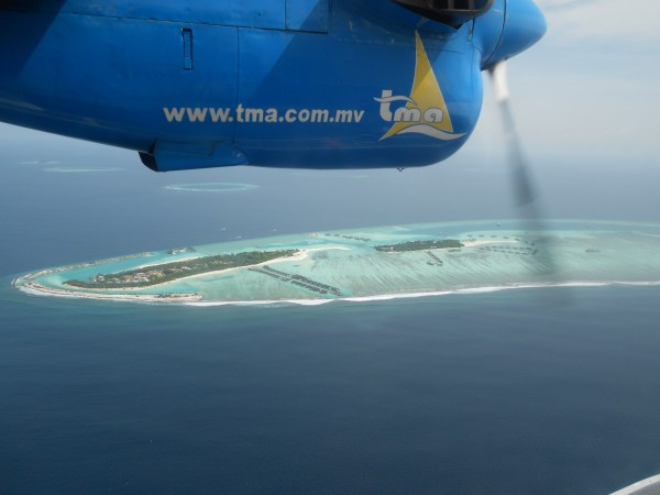 Sea Plane flight Maldives