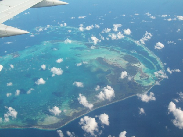 Flying from Suriname to Aruba Caribbean